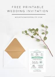 wedding invitations free free wedding invitation template mountainmodernlife