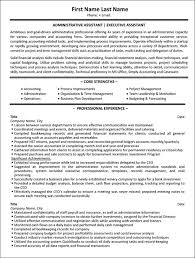 sample resume for administrative assistant skills resume