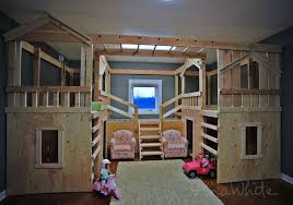 Plans To Build A Bunk Bed With Stairs by Ana White Diy Basement Indoor Playground With Monkey Bars Diy