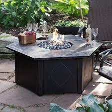Lp Gas Firepit Uniflame 55 In Decorative Slate Tile Lp Gas Outdoor