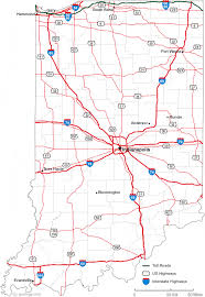 map of and map of indiana