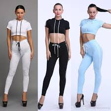 womens casual 2018 2017 fashion sportswear costumes tracksuits