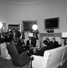 John F Kennedy Rocking Chair St 153 1 61 President John F Kennedy Meets With Mohammad Ayub