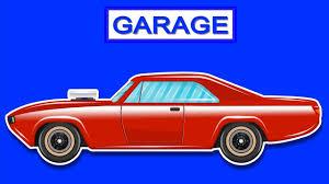 cartoon convertible car kids play time muscle car car garage cartoon cars for children