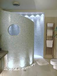 bathroom shower idea bathroom design with curved walk in shower idea and rock