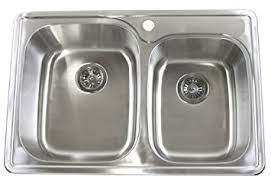 40 Inch Kitchen Sink 33 Inch Top Mount Drop In Stainless Steel 60 40 Bowl