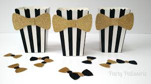 black tie party favors black and white popcorn boxes with bow tie set of 10 wedding