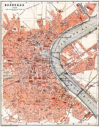 map of bordeaux map of bordeaux in 1885 buy vintage map replica poster print