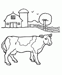 free printable cow coloring pages for kids throughout cow