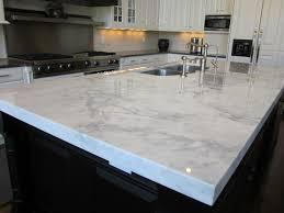 White Marble Kitchen by Kitchen White Quartz Countertops Set On Combo Black Wooden
