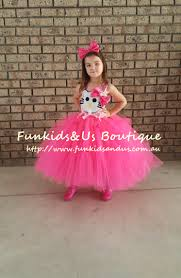 hello kitty inspired tutu dress and headband bow kitty birthday