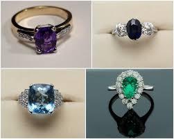coloured wedding rings images We love coloured stone engagement rings weddingsonline jpg