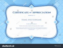 certificate appreciation template vector applied thai stock vector