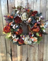 autumn wreath wreath door wreath fall wreath fall silk flower wreath autumn