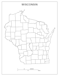 Maps Wisconsin by Wisconsin Blank Map
