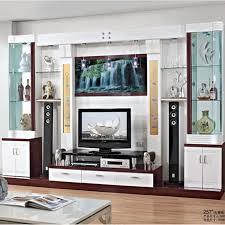 tv wall design with display cabinets dark tonal tv wall tv