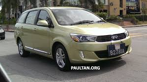 motoring malaysia tech talk the spied chery v5 mpv in malaysia chery eastar getting a facelift