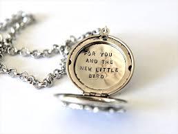 keepsake baby gift baby shower gift new baby gift new jewelry bird locket