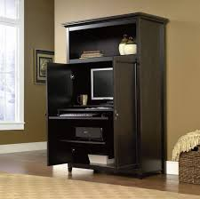 Computer Desk Armoires Furniture Solid Wood Computer Armoire Design The Best Computer