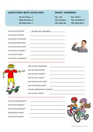 107 free esl questions and short answers worksheets