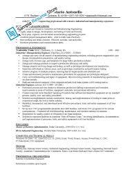 Manufacturing Resumes Industrial Engineer Sample Resume