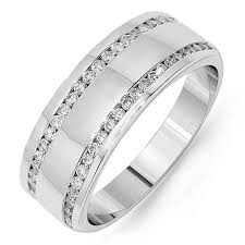 mens wedding band with diamonds 8mm cut channel set men s cut diamond wedding band m133