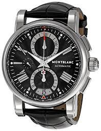 watches chronograph amazon com montblanc s 102377 chronograph