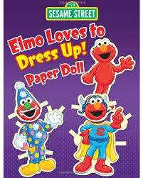 elmo christmas wrapping paper deals on sesame elmo to dress up paper doll sesame