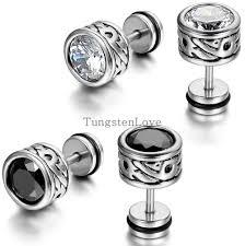 cool earrings for men high quality cool mens earring ear stud stainless steel cz