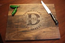 personalized cutting boards personalized engraved wood cutting board circle monogram names