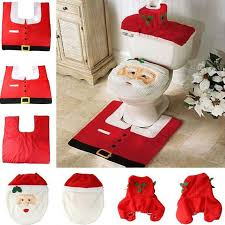Christmas Decoration For Home Aliexpress Com Buy 2017 Santa Claus Toilet Seat Cover And Rug
