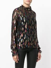 metallic blouse laurent metallic embroidered blouse farfetch