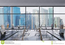 Office View by Workplaces In A Modern Panoramic Office Singapore City View From