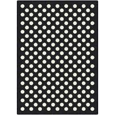 Black And White Floor Rug Black Polka Dot Rug Roselawnlutheran