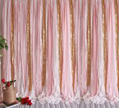 Sparkle Window Curtains by Pink White Lace Gold Sparkle Sequin Wedding Party Baby Shower