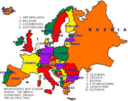 a map of europe with countries european countries on a map major tourist attractions maps
