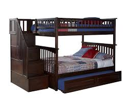 Amazoncom Columbia Staircase Bunk Bed With Trundle Bed Full - Wooden bunk bed with trundle