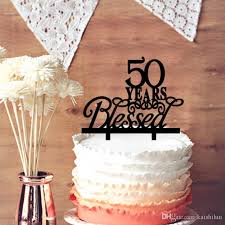 anniversary cake toppers wedding anniversary cake toppers 50 years blessed