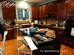 How To Paint Wooden Kitchen Cabinets Kitchen Redo Reveal From Darkness To Light 11 Magnolia Lane