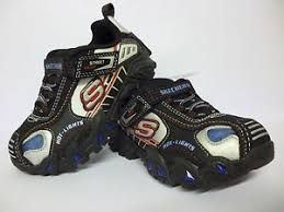 skechers red light up shoes skechers light up boys casual trainers sizes 6 7 black red blue new