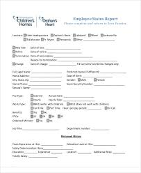 employee report templates 19 free sample example format