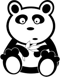 panda black white line bear teddy bear animal art coloring sheet