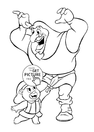cubbi and igthorn gummi bears cartoon coloring pages for kids