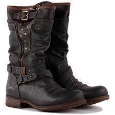 womens biker boots nz mustang 1139 609 20 womens biker boots in grey rrrrr