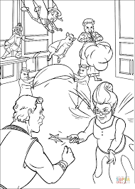 shrek human and fairy coloring page free printable coloring pages