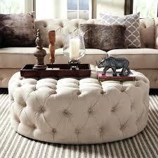 ottoman round white tufted ottoman round upholstered ottoman in