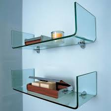 Glass Floating Shelves by Floating Glass Shelves For Bathroom U2013 Home Design And Decorating