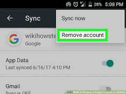 remove account android how to remove a account on android 7 steps with pictures
