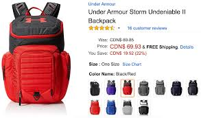 amazon ca black friday sale amazon canada deals save 22 on under armour storm undeniable ii
