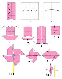 cara membuat origami kincir angin origami membuat kincir angin dan roda tiup dari kertas bintangtop
